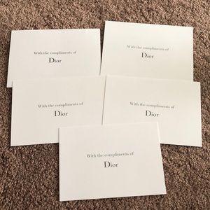 Dior Blank Note 5 piece